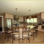 Large Kitchen Island with ample seating