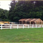 Post and beam horse barn