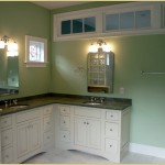 Extended counter with double sink