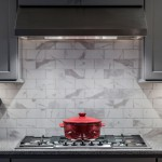 Stainless steel Range Hood with gorgeous tile back splash