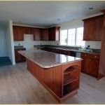 Kitchen island with counter seating