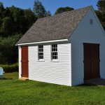 Storage Shed with Ramp and large doors
