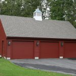 Detached garage with 3 bays and cupola