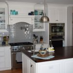 Kitchen with Glass cabinet doors