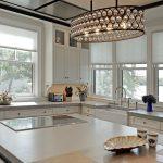 Kitchen with Island flat top Range
