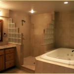 Walk-in shower with Jacuzzi tub