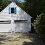 Two bay Garage with custom shutters