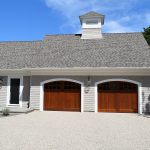 Attached 2 bay garage with cupola
