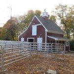 Horse Barn with hay bale elevator