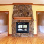 Fireplace - floor to ceiling rock work